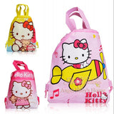 1pcs Novelty Hello Kitty Cartoon bags Children Drawstring Backpack School Bags,Party Favors,Totes,Non Woven Fabric,34*27cm