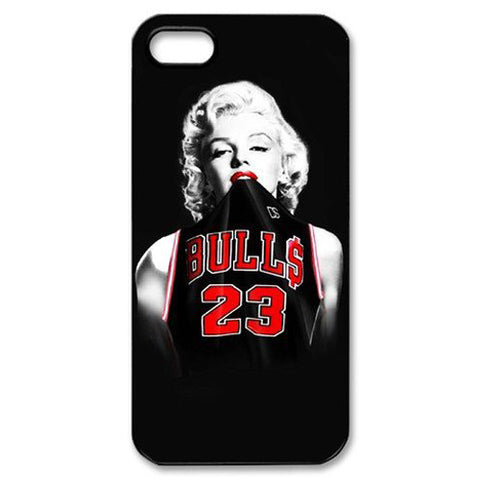 Marilyn Monroe Chicago Bulls Michael Jordan 23 Jersey for Iphone 4 4s 5 5s 5c 6 6s 6plus 6s plus Slim-fit Case Celebs - Animetee - 1