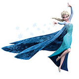 Similar to Fathead Elsa Frozen Snow Queen And Olaf Wallpaper Wall Cling poster Decoration Decal Kids Girls Boys Room - Animetee - 2