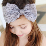 2017 Durable Top 1Piece Baby Headband Fashion Lace Bow Hair Band Baby Girl Headbands Hair Accessories For Baby Girls accessories