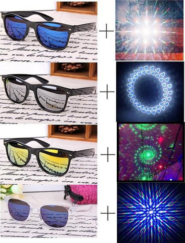 Free shipping diffraction glasses newest diffraction to watch fireworks or party glasses