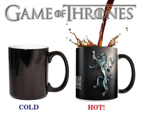 Winter Game of Thrones GOT  Linnister Mugs Hear me Roar Color Changing Cups Sensitive Ceramic Tea La Copa Friends Gift AT_77_7