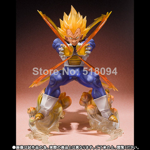 Anime Dragon Ball Z Super Saiyan Vegeta Battle State Final Flash PVC Action Figure Collectible Model Toy 15CM hwd - Animetee