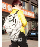 2016 Women Fashion Animal Printing Backpack 3D Tiger Head Backpack Men Travel Bag Cute School Bag for Teenager Girls Boys A0118