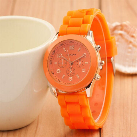 silicone porcelain silicon pattern floral chinese watches white and blue watch