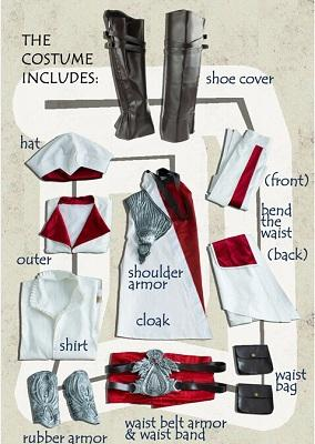 Ezio Auditore Da Firenze Cosplay Assassins Creed Discovery Brotherhood And Revelations Uwowo Costume