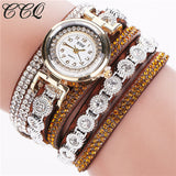 CCQ Brand Fashion Luxury Rhinestone Bracelet Watch Ladies Quartz Watch Casual Women Wristwatch Relogio Feminino C43