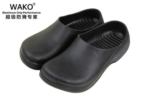 WAKO New Menu0027s Chef Kitchen Working Slippers Garden Shoes Summer Breathable  Beach Flat With Shoes Mules