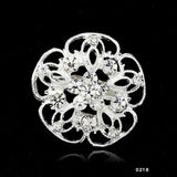 2016 Charming Jewelry Bridal Bouquet Flower Pattern Brooch Pin Rhinestone Inlaid Crystal Women Wedding Brooches 14 types
