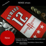 Superfine fiber fabrics Houston rockets #1#11#12dance fitness basketball football cartoon towel bath towel custom make to order