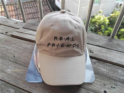 819e36ef786 Belababy 2016 Real Friends Baseball Caps Curved Chapeau Visor Dad Hats  Casquette Brand Bone Fashion Hats