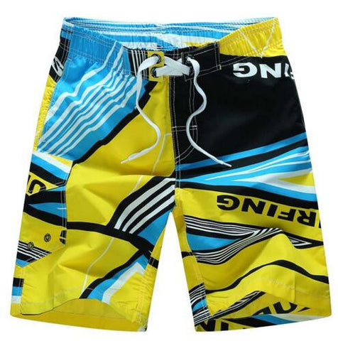 2016 HOT Quick Dry Men Shorts Brand Summer Casual Clothing Geometric Shorts Men's Sea Board Beach Shorts