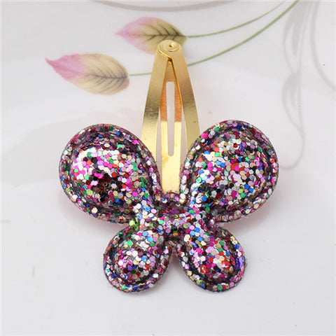 a211243faf Baby Girls Hair Accessories Sequins Heart Butterfly Barrettes Glitter Stars  BB Clip Hair Clips Kids Children Hairpin Wholesale