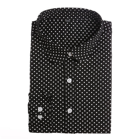 6fcc75e5e1eef Red Polka Dot Shirts Women Cotton Blouses Long Sleeve Ladies Tops Coll –  2018 AT 142 30 (Animetee.com Friends)