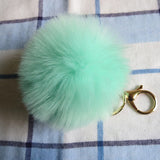 2016 New 16 Color Trinket Keychain Pompons Keychains Fur Keychain Fluffy Key Chains for Cars Keyrings Trinkets Pom Pom Keychain