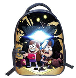 2017 Fashion Cartoon Gravity Falls Kids Backpack Kindergarten School Bag 14 Inch Children Printing Backpack Girls Boys Mochila