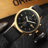 2016 Men Watch Mens Top Luxury Brand Leather Strap Casual Quartz Sports Waterproof Watches Wristwatches Relogio Masculino