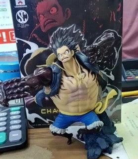 New Hot 17cm One Piece Gear Fourth Monkey D Luffy Action Figure Toys Christmas Toy With Box