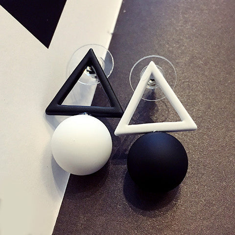Aiffry Triangle Different Candy Color Earrings For Women 2016 Fashion Stud Earrings From Korean Earings Jewelry E2332