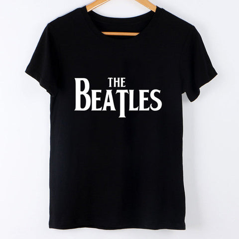 Beatles logo Fashion trendy ladies top tumblr reddit tee t-shirt  shirt 001 tqi