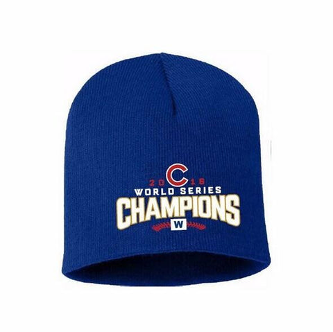 huge selection of b0641 c53a1 Chicago Cubs 2016 World Series Champions Knit Beanie Hat with Embroidered  Logo Unisex Cap Hot