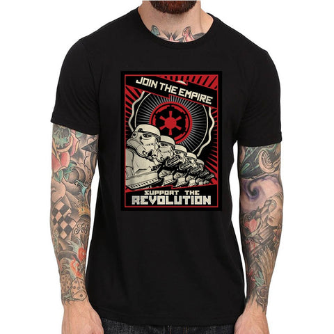 SUPPORT OUR TROOPS STORMTROOPER T-SHIRT Screen Printed S M L XL 2XL STAR WARS