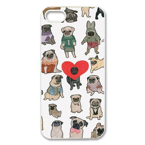 Funny Pugs Best Durable Plastic Cover Case for iphone 4 4s 5 5s 5c 6 6s 6plus 6s plus drm - Animetee - 1