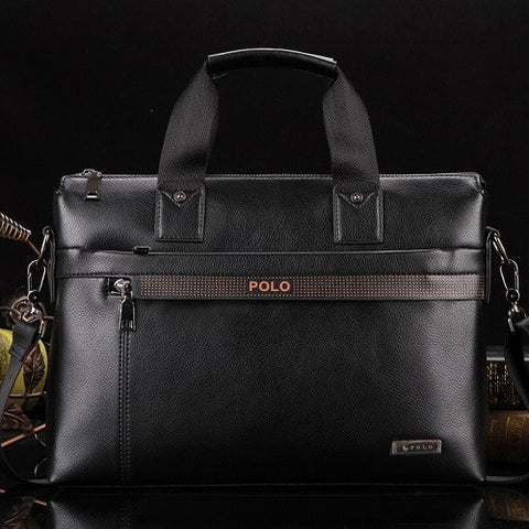 10b572a92f ... Free Shipping 2017 New Fashion pu Leather Bags for Men famous brand  POLO Men s Shoulder Bag