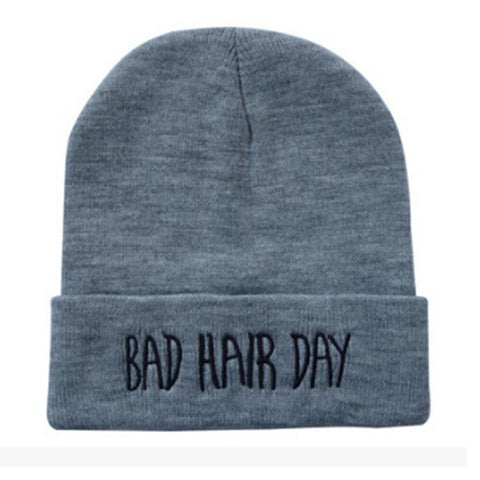 New Beanie Bad Hair Day Beanie Cap Women Cotton Blend Letter Printed  Knitted Winter beanies Hiphop Hats Caps cheap 671503 b5423feaaa2