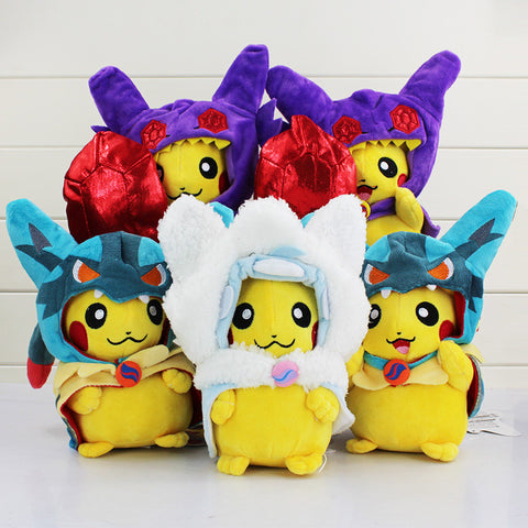 1Pcs 20cm Pokemon Pikachu Cosplay Lucario And Sableye Plush Toy Dolls Movies & TV Brinquedo Stuffed Soft Fashion Toys - Animetee