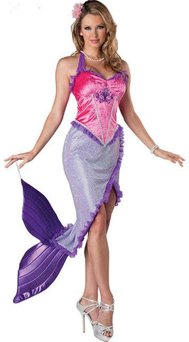 mermaid tail cosplay costume adult halloween costumes for women ocean jellyfish costume for girls sexy fancy
