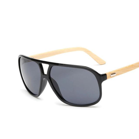 Flat Top Bamboo Sunglasses Men Vintage Style Brands Sunglasses Women Retro Designer Sun glass Wood Madeira Lentes De Sol