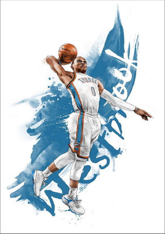 "080 Russell Westbrook - Oklahoma City Thunder Basketball NBA 24""x34"" Poster"