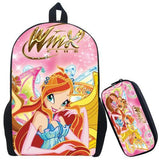 17 Inch Winx Club Girls Backpack for Teenagers Girls Cartoon School Bag Children Printing School Backpacks Gifts for Birthday