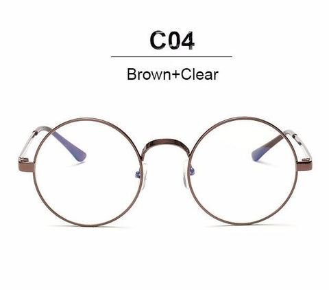 f819600c7c1c Nerd Vintage Round Glasses Men Women Metal Frame With Clear Lens Trans –  2018 AT 142 30 (Animetee.com Friends)