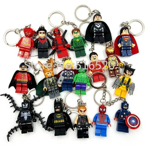 Deadpool Dead pool Taco Starwars Marvel Avengers Captain America Ironman Spiderman  Darth Vader Superman Batman With Legoes Keychain Mini figure AT_70_6