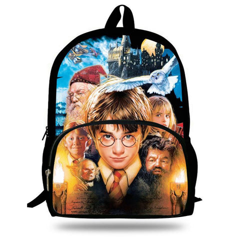 16-inch Mochila Harry Potter Backpack Teenagers Children School Bags For Boys Casual Daypack Harry Potter Bag kids Girls primary