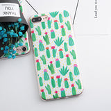 TPU Phone Cases for iphone 5 5s SE 6 6s 6 7 plus Flower Daisy Plants Fruit Cactus Leaves Silicone Case For iphone 7 case