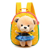 2016 Hot Christmas special gift Children school bags cute cartoon bear infant backpacks for baby girl kids bags Free Shipping