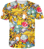 Jigglypuff Face T-Shirt Pokemon Characters t shirt Summer style fashion clothing tees tops women men plus size S-XXL - Animetee - 8