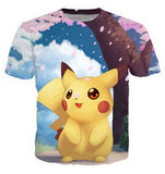 Jigglypuff Face T-Shirt Pokemon Characters t shirt Summer style fashion clothing tees tops women men plus size S-XXL - Animetee - 3