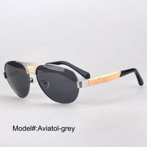 Aviatol  new arrival men's style sunglasses with polarized lens bamboo temple UVB  UV400