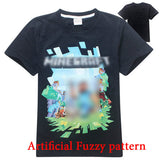 Freddy's Fazbear Pizza Minecraft Jurassic Park Childrens Kids Clothing tee t-shirt - Animetee - 2