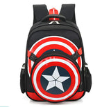 2017 Captain America School Bags for Boys Student Shoulder Bag Satchel High Quality Children Backpacks Best Gift For Grade 1-6