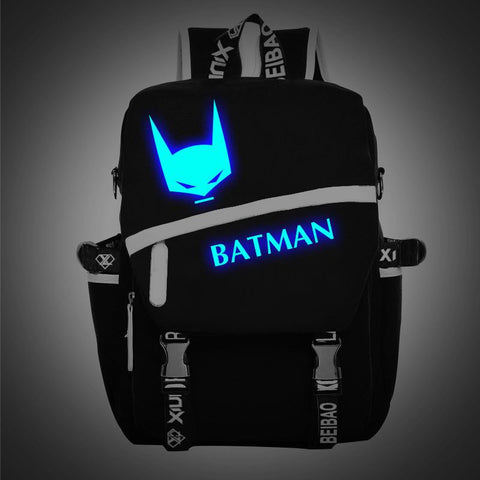 Japanese Anime Bag Batman Backpacks Cartoon  Schoolbag canvas Travel Bags AT_59_4