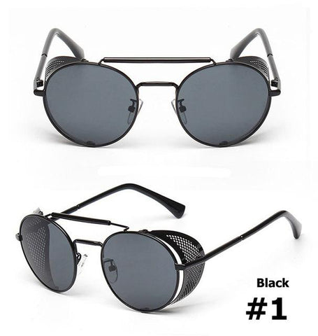 JackJad 2017 New Fashion Steampunk Round Metal Frame Sunglasses Vintage Hollow Out Net Decoration Sun Glasses Oculos De Sol A056