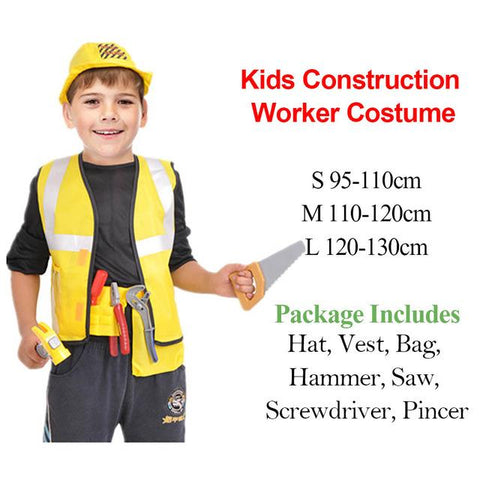 Kids Construction Worker Costume Worker Role Play Toy Set Career Costumes for Children Halloween Costumes with  sc 1 st  Animetee.com & Kids Construction Worker Costume Worker Role Play Toy Set Career ...