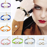 14 Colors Cross Infinity Leather Bracelet Charm Eight Bangle For Men Women Girl Wedding Jewelry Bijoux 2017 pulseras