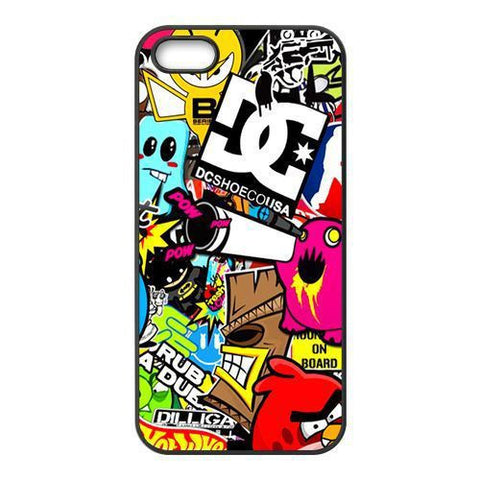 HOT Sticker collage JDM DCSHOECOUSA  POW Hard Plastic Back Cover Case for iPhone 4/4s/5/5s/5c/6/6plus - Animetee - 1