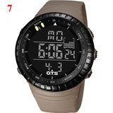 OTS Men's Watch LED Sports Digital Watch Clock 50M Waterproof Men Top Brand Luxury Hour Military Wristwatches Relogio Masculino